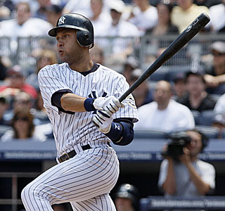 Derek Jeter picks up hits in all four times at the plate, scores twice and drives in two runs.  (AP)