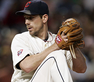 Cliff Lee, reigning AL Cy Young winner, comes up six outs short of the first no-no at Progressive Field.  (AP)