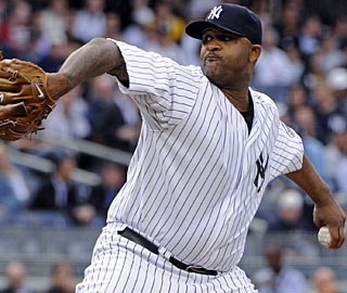 CC Sabathia pitches at least seven innings for the eighth straight start. (AP)
