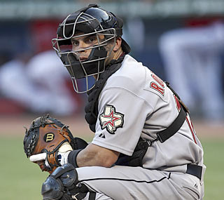 Ivan Rodriguez ties a major league record by playing his 2,226th career game behind the plate.  (AP)