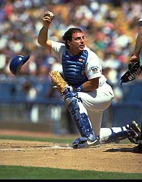 Scioscia was an All-Star with the Dodgers and was known for blocking the plate. (Getty Images)