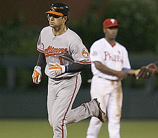 'I just wanted to get a ball in play,' Brian Roberts says after hitting the winning homer.  (AP)