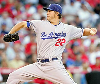 Despite four walks, Clayton Kershaw doesn't allow the host Angels to score in seven innings.  (US Presswire)