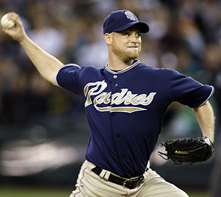 Chad Gaudin strikes out 11, tying a career high, while going seven innings with only two runs allowed.  (AP)
