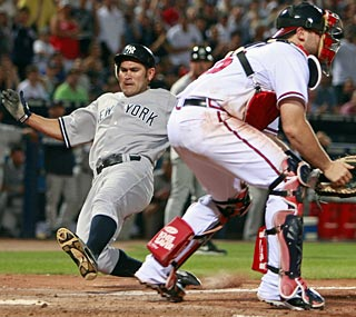 Johnny Damon and the Yankees finally put some runs on the board to end their three-game losing streak.  (AP)