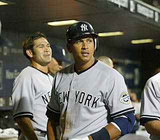 Alex Rodriguez relishes his 564th career homer to pass Reggie Jackson on the all-time list.  (US Presswire)