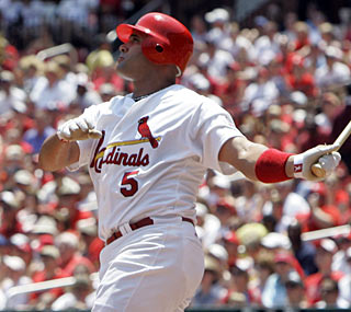 Albert Pujols has two multihomer games in the past six days and 29 in his career.  (AP)