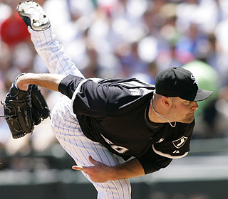 John Danks evens his record at 6-6, yielding four hits and four walks over seven scoreless innings.  (US Presswire)