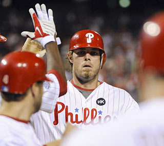 Jayson Werth (grand slam, five RBI) plays a role in the Phils' historic beating of the Reds.