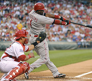 Brandon Phillips erases a three-run Phillies lead with homers in the fourth and sixth innings. (US Presswire)