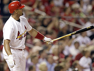 That's  two more long balls Albert Pujols is taking out of the park for a total of 34 this season. (AP)
