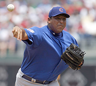 Carlos Zambrano helps the Cubs avoid their first three-game sweep in Philly since '99.  (AP)