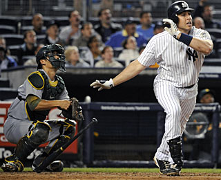 With his third home run in the past week, Mark Teixeira is in a four-way tie for the AL lead.  (AP)