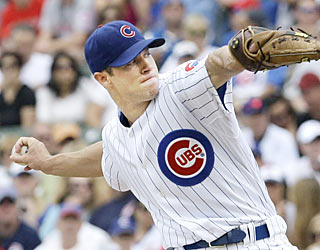 The Cubs get a serious boost from starter Rich Harden, who throws a gem for a rare win at Wrigley Field.  (AP)
