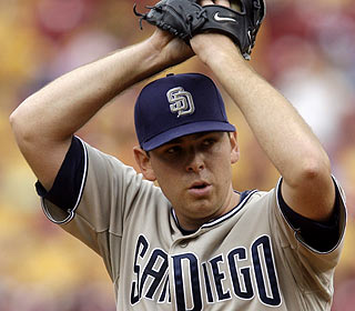 Tim Stauffer allows one run over seven innings and picks up his first win since Aug. 21, 2006.  (AP)