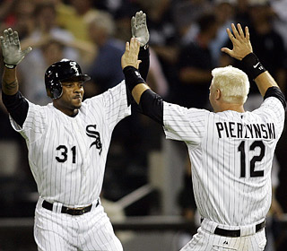 DeWayne Wise (31) saves the night after ex-South Sider Nick Swisher ties things up in the ninth.  (US Presswire)