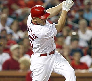 Matt Holliday loves being back in the NL, upping his average to .606 since being dealt to the Cards.  (AP)