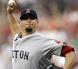 Josh Beckett has been untouchable lately with a 2.28 ERA and an 11-2 record since April 30.  (AP)