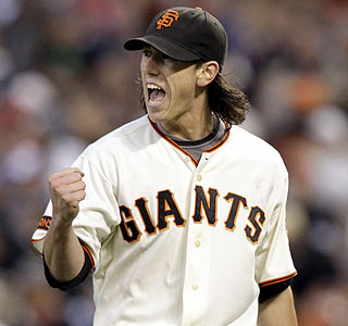 Tim Lincecum increases his major league-leading strikeout total to 191 after whiffing eight.  (AP)