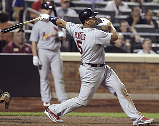 Albert Pujols turns a Sean Green 0-2 pitch into a grand slam for his second home run of the night ...