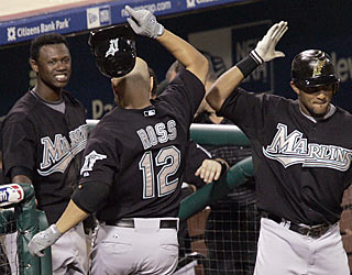 The Marlins get a major lift from Cody Ross, who provides a two-run shot in the sixth inning. (AP)