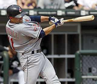 Jamey Carroll puts the Indians ahead with an RBI double in the fifth and adds a solo HR in the seventh.  (AP)