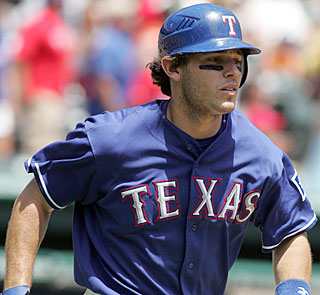 Ian Kinsler helps the Rangers take two of three from the Red Sox with his second homer in two days.  (US Presswire)