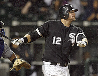 A.J. Pierzynski gives the White Sox a three-run lead with this two-run homer in the seventh.  (AP)