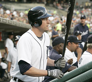 Recently acquired Aubrey Huff finishes the game 1 for 4 in his debut with the Tigers.  (AP)