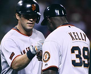 Ryan Garko collects four RBI, which is as many as he had in his first 17 games with Giants. (AP)