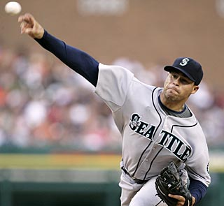 Ian Snell holds the Tigers to one run and four hits for his best effort since joining the Mariners. (AP)