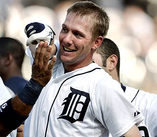 For his game-winning RBI, Clete Thomas is the most popular man in the Tigers' clubhouse. (AP)
