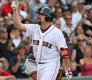 Kevin Youkilis has a career day, hitting two homers and tying a personal best with six RBI.  (AP)