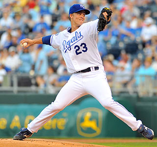 Zack Greinke strikes out a team-record 15 batters for his 12th victory of the season.  (US Presswire)