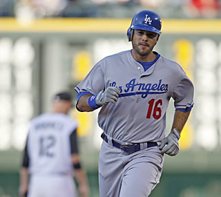 Andre Ethier provides not one, but two home runs in a crucial victory against the Dodgers' NL West foes.  (AP)
