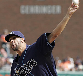 David Price strikes out four and allows just one run in the 7 1/3 innings on the mound. (AP)