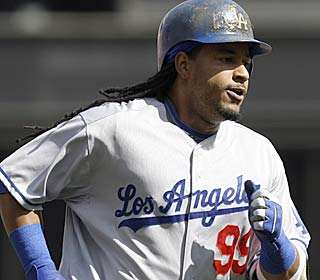 Manny Ramirez rounds the bases after hitting his first homer since Aug. 11.  (AP)