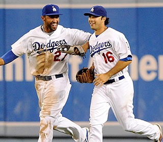 Manny who? It's Matt Kemp and Andre Ethier that carry the night as the Dodgers get a win. (US Presswire)