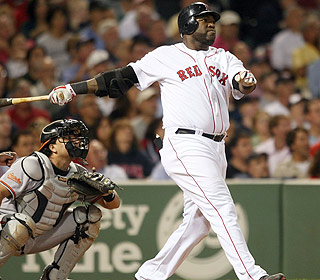 Boom, there it goes. David Ortiz's homer ties him with Frank Thomas for the most by a DH (269). (Getty Images)