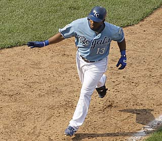 Alberto Callaspo makes his one hit count, connecting for his ninth homer of the season.  (AP)