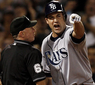 Pat Burrell and the Rays are in a free fall, stuck in the longest losing streak of any team this year.  (AP)