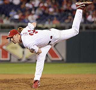 Cliff Lee gives it his all in the ninth inning and finishes off his fourth career shutout.  (US Presswire)