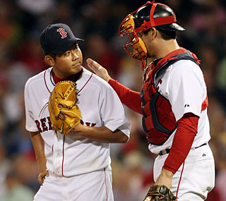 Daisuke Matsuzaka is sharp after missing three months on the DL, tossing six strong innings.  (Getty Images)