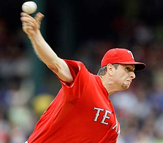 Scott Feldman allows two runs and four hits in 6 2/3 innings to pick up his 17th win.  (AP)