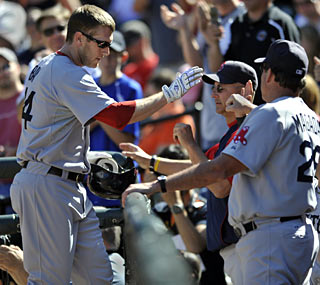 Jason Bay ties his career high with his 35th homer and also earns his career-best 110th RBI.  (AP)