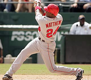 Gary Matthews snaps a 1-for-13 skid, going 2 for 3 with a homer and three RBI.  (AP)