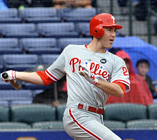 Chase Utley and the Phillies take two of three against Atlanta to hurt the Braves' shot at the playoffs.  (AP)