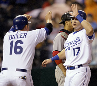 Billy Butler, Mike Jacobs and the Royals stay hot, having won 11 of their past 14 games.  (AP)