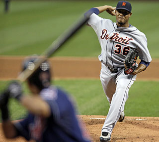 Edwin Jackson keeps his perfect record against Cleveland with seven shutout innings.  (AP)