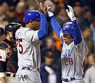 Jeff Baker's two-out, two-strike homer in the ninth helps the Cubs stave off NL Central elimination.  (AP)